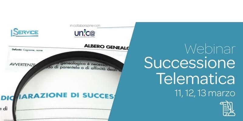 Webinar – LE SUCCESSIONI TELEMATICHE / ABILITAZIONE ENTRATEL